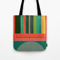 Stripe Transmission Tote Bag
