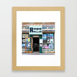 Record Store Framed Art Print