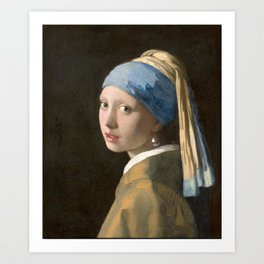 Girl with a Pearl Earring (1665), Old Masters Collection Art Print