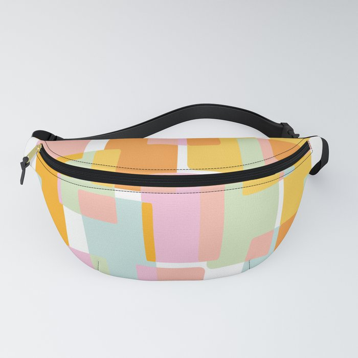Pastel Geometric Shape Collage Fanny Pack