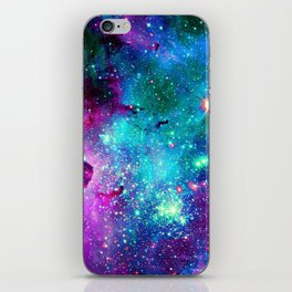 purple pink blue nebula iPhone Skin