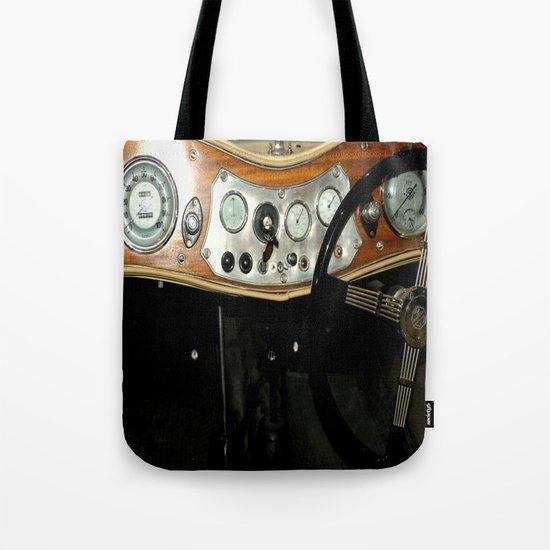 """1948 MG """"TC"""" Sports Car Dashboard Tote Bag"""