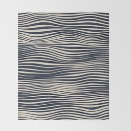 Waving Lines Throw Blanket