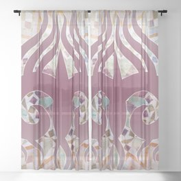 Mosaik Ornaments Collage Sheer Curtain