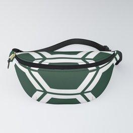 Phthalo green - green - Geometric Polygon Pattern Fanny Pack
