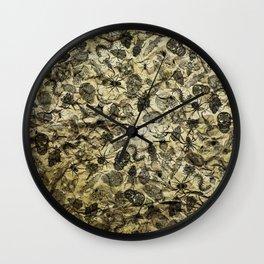 Pattern inked on rock Wall Clock