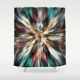 Earth Tones Tie Dye Shower Curtain