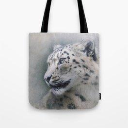 Snow Leopard profile Tote Bag