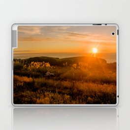 jacks bay new zealand at sunset farmland bay orange sunset rocks Laptop & iPad Skin