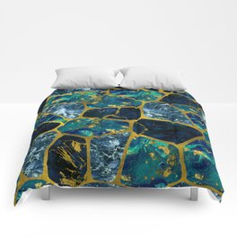 Voronoi diagram Gold Gemstone texture Comforters