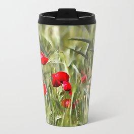 Corn Poppies Travel Mug