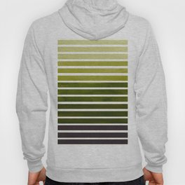 Olive Green Minimalist Abstract 15 Stripes Watercolor Gradient Hoody