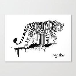 Tiger Skin Canvas Print