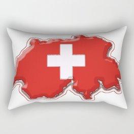 Switzerland Map with Swiss Flag Rectangular Pillow