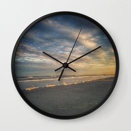 Brigantine Beach Sunset Wall Clock