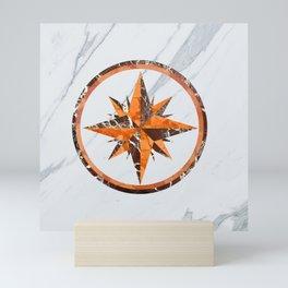 Wind rose ~ Inlaid marble Mini Art Print