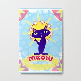 Feline Icon III Metal Print