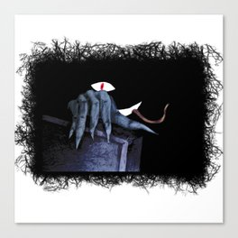 The hidden Monster in the closet Canvas Print