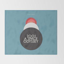 2001 a Space Odyssey - Stanley Kubrick, minimal movie poster, rétro film playbill, sci-fi Throw Blanket