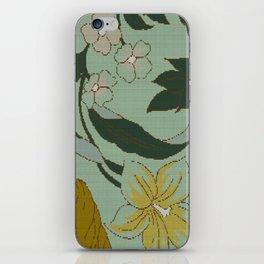 vintage floral knit iPhone Skin