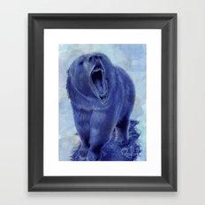 So bear your teeth Framed Art Print