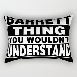 BARRETT Surname Personalized Gift Rectangular Pillow