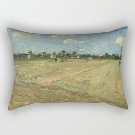 Ploughed fields ('The furrows') Rectangular Pillow