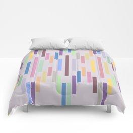 Vertical Stripes Pastel Color Comforters