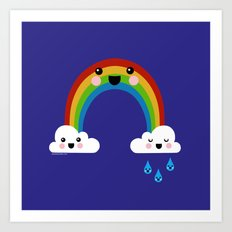 Rainbow Cuteness Art Print