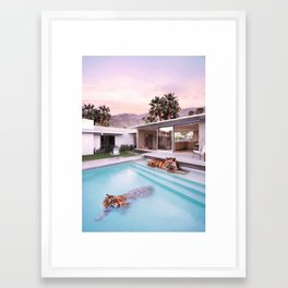 Palm Springs Tigers Framed Art Print