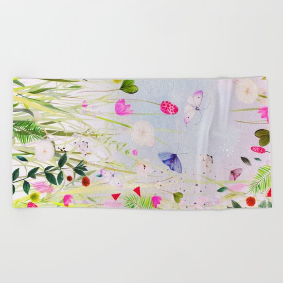 memoryfields Beach Towel