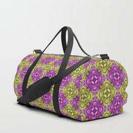 Pink & Gold Spiral Diamonds Duffle Bag
