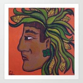 Native Face 3 Art Print