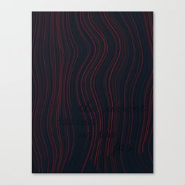 The current carried us too far. Canvas Print