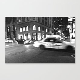 Cab City Noir Canvas Print