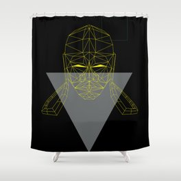 polygon head Shower Curtain