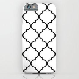 Quatrefoil - black on white iPhone Case