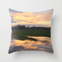 mirror Throw Pillows featuring Mirror by friz sala