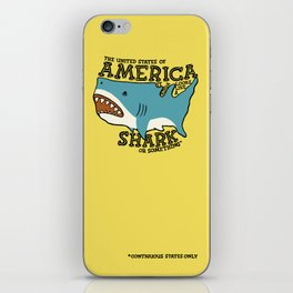 America…   it kinda looks like a shark or something iPhone Skin
