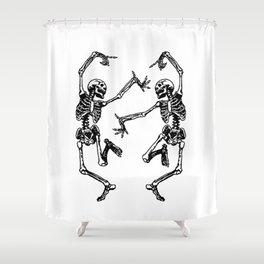 Duo Dancing Skeleton Shower Curtain
