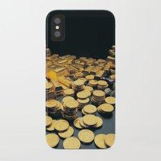 Gold Coins iPhone X Slim Case
