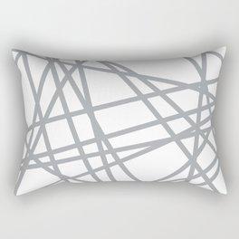 To The Edge Grey Rectangular Pillow