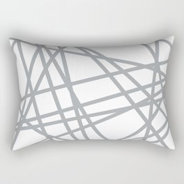 To The Edge Grey Rectangular Pillow