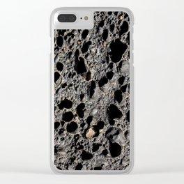 Vocanic rock Clear iPhone Case