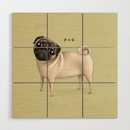 Pug Wood Wall Art