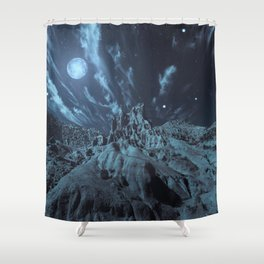 Blue Madness Shower Curtain