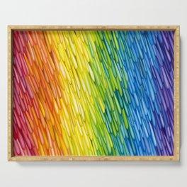 Rainbow Rain Serving Tray