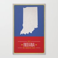 indiana Canvas Prints featuring INDIANA by Matthew Justin Rupp