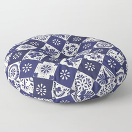 Mexican Talavera Tiles Floor Pillow