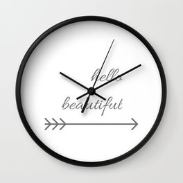 Hello Beautiful arrow ( Valentine's Day Gifts / Girlfriend Valentine Gift ) Wall Clock